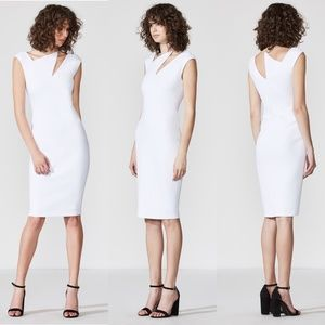 Bailey 44 Dharma Asymetrical Cutout Midi Dress